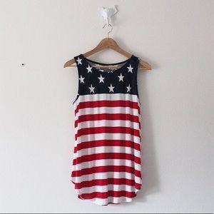 NWT Old Navy USA Flag Tank Top Shirt Stars Stripes